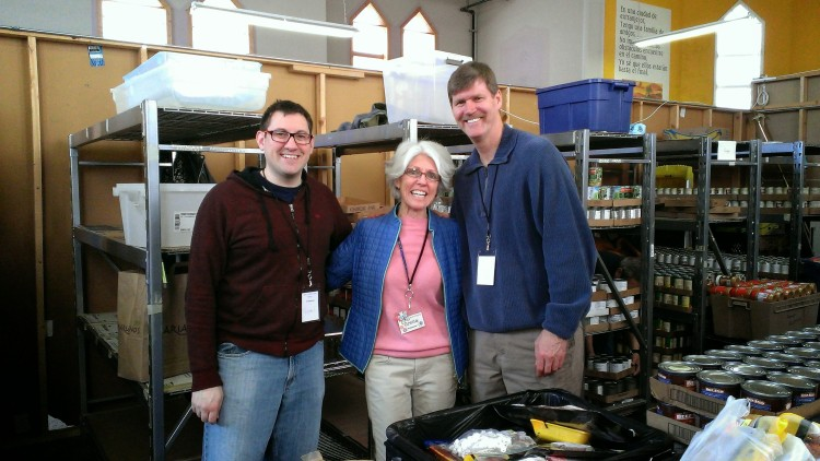 Serving at Holy Family Food Pantry for Field Education
