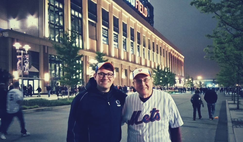Dad and I after watching the Mets lose to the Yankees.