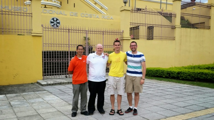 Christian, Stephen, Kyle, and Michael in San Jose, Costa Rica