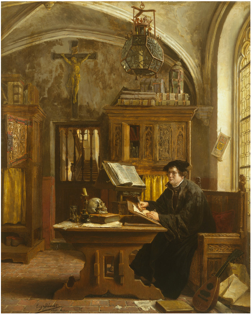 Luther, creating 'his translation' and his 'edited' cut of the German translation of the Bible!